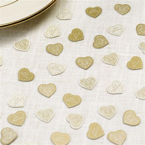 Table Confetti by Vintage Table Confetti Ivory Gold Uk Wedding