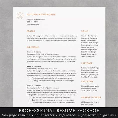 resume template cv template word mac pc cv
