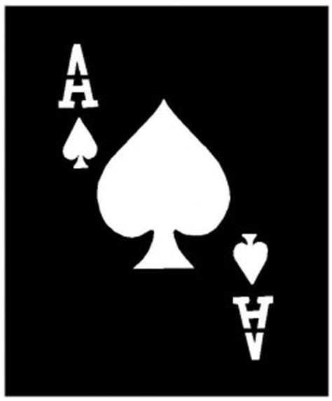 ace of spades card template brush spray stencils ace of spades clippersharp