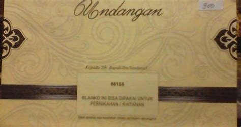 Cetak Undangan Pernikahan Dan Khitanan Atau Sunatan 88166 berbagi itu indah contoh desain undangan pernikahan erba 88166