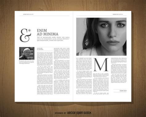 layout magazine download editorial design mockup vector download