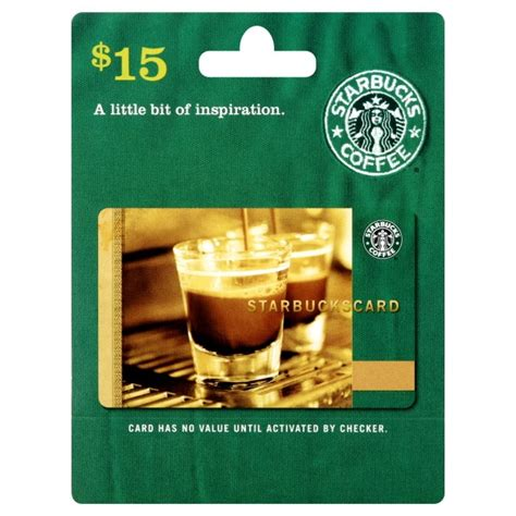 Balance On Starbucks Gift Card - 15 starbucks gift card