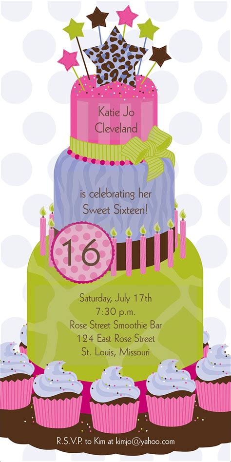 16 birthday card templates 16th birthday invitations templates ideas 16 birthday