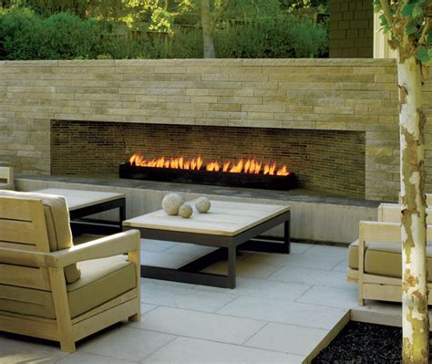 modern outdoor fireplace patio san