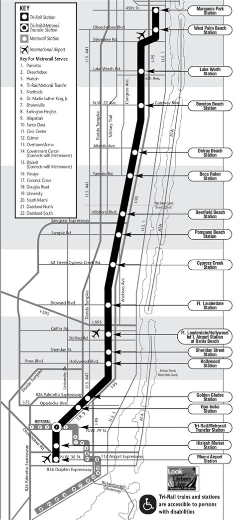 tri rail map tri rail from fort lauderdale to miami south map miami 411