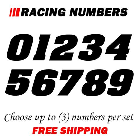 Auto Decal Numbers by Racing Numbers Vinyl Decal Number Dirt Bike Quad Car Bmx
