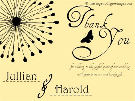 thank you messages for wedding presents wedding thank you messages 365greetings