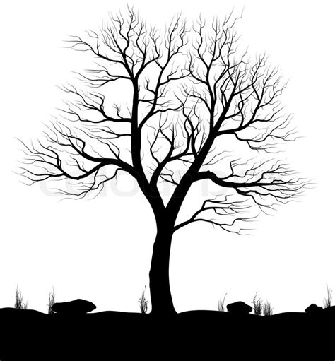 black and white tree images landscape with tree and grass white background