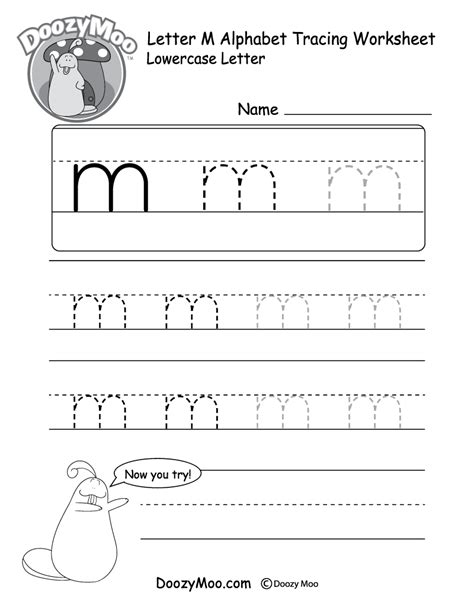 M Tracing Worksheet by Letter M Tracing Worksheets Popflyboys