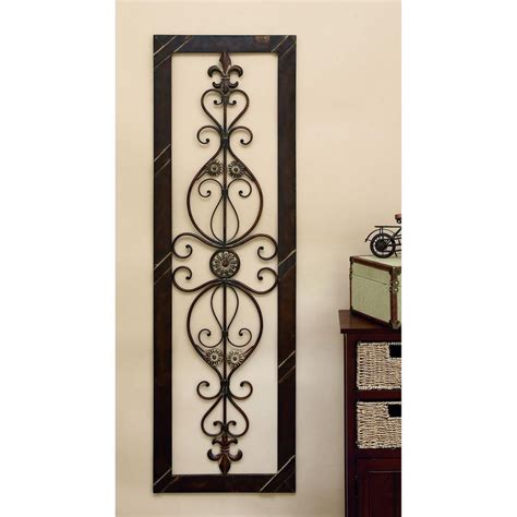 fleur de lis home decor bathroom antique bronze 62 in fleur de lis wall decor 96553 the