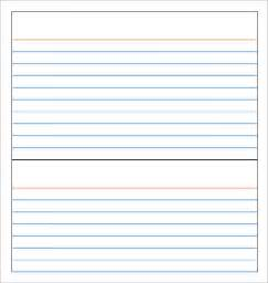 Blank Card Templates Free by Note Card Template 9 Free Documents In Pdf