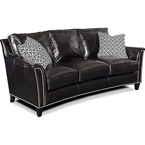 black leather sofa with nailhead trim bradington young sierra sofa bradington young