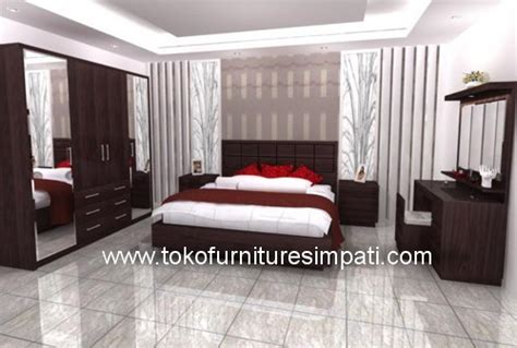 Ranjang Rak Sepatu Nakas Bedroom Set Mini kamar set toronto toko kasur bed murah simpati