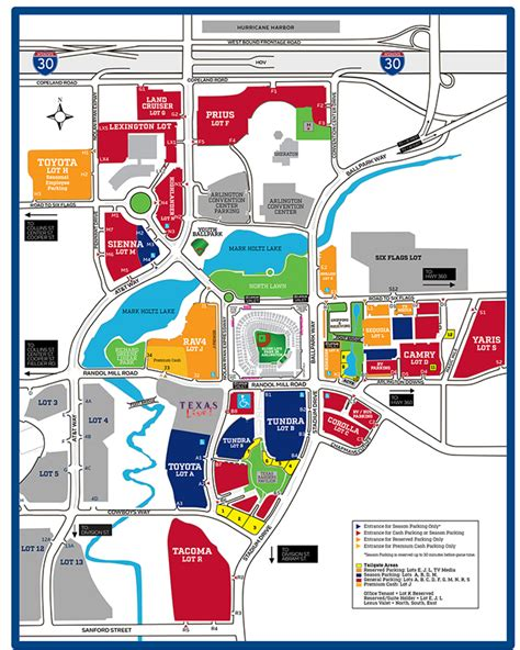 texas rangers ballpark parking map globe park tailgating tips texas rangers