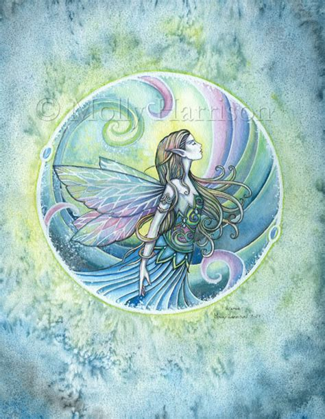 aquamarine mermaid fairy water elemental 16 x 22 fairy print water element by molly harrison archival 12 x
