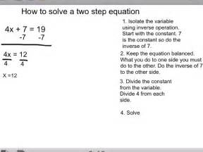 Solving Two Step Equations Worksheet by Solve The Two Step Equations Integers