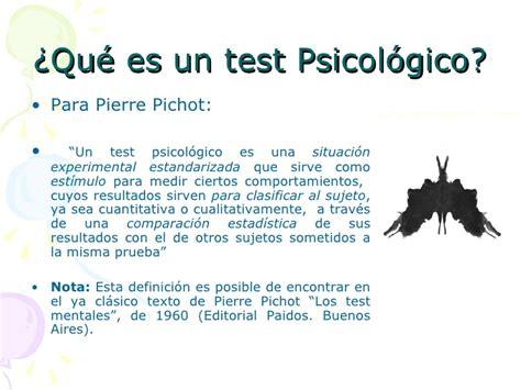test psicologico clasificacionde los tests psicologicos