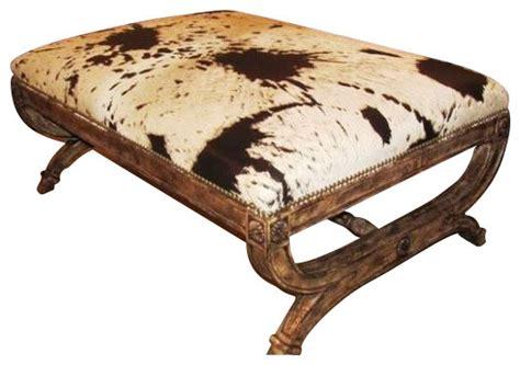 caledonia ottoman rustic footstools  ottomans
