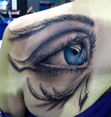 schulter auge 3d tattoo von stefano alcantara