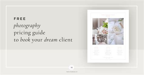 Free Pricing Guide Template Design For Wedding Photographers The Flying Muse Wedding Photography Pricing Template Free