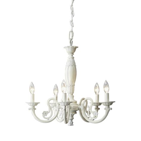 Shop Style Selections 5 Light Antique White Chandelier At Lowes Chandeliers