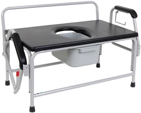 Large Bedside Commode by Large Bariatric Drop Arm Commode Drive