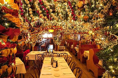 festive decorations rolf s german restaurant is ready for with