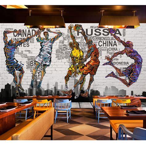 vintage brick wallpaper  graffiti basketball photo