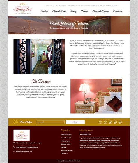 website to design a house house of splendor website design for a boutique hotel spa web design nigeria