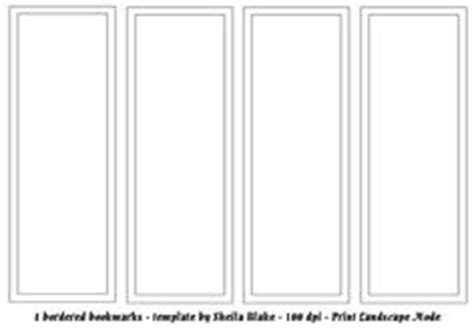 Blank Bookmark Template For Word This Is A Blank Template That Can Be Customized To Suite Your Bookmark Template Publisher
