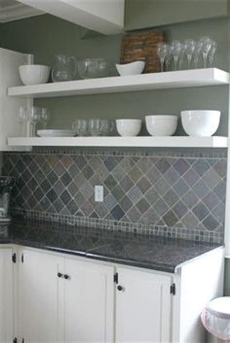 the flipping kitchen slate tile backsplash behr witch hazel green
