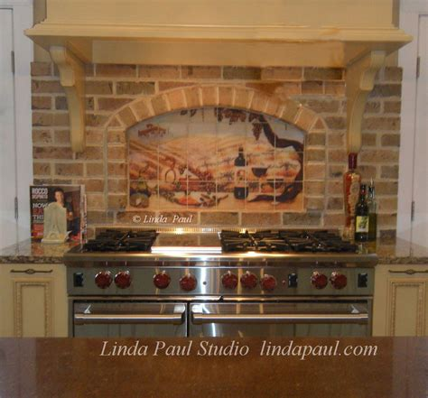 love this backsplash installation our quot vineyard kitchen tile mural pictures pin pinterest