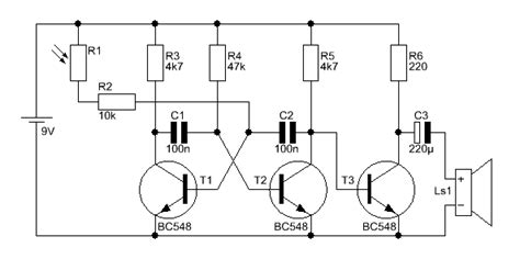 transistor bc548c bc546c bc550c lichtharfe