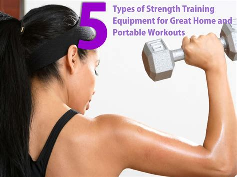 5 types of strength equipment for home workouts