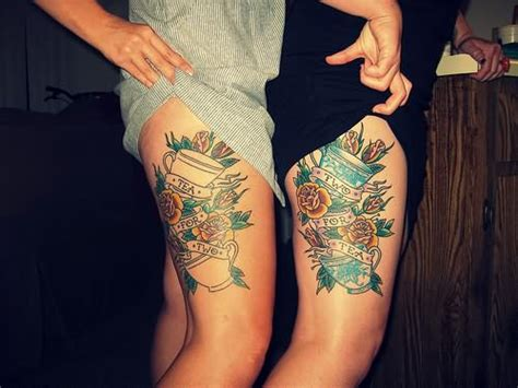 flower thigh tattoos the arts