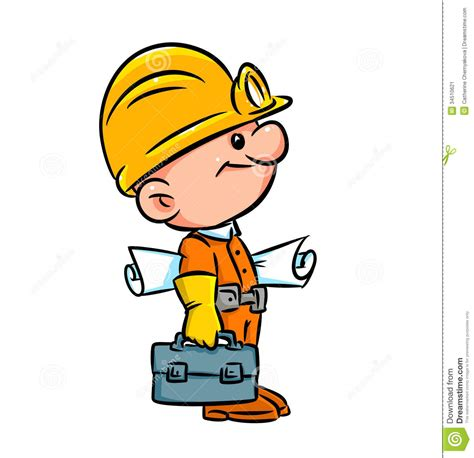 builder clipart builder illustration working isolated