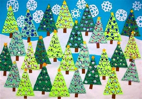 winter christmas tree bulletin board decoration