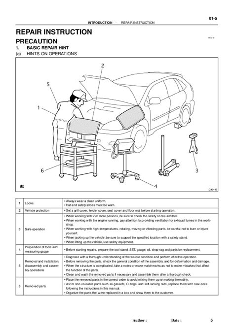service and repair manuals 2005 toyota sienna parking system 2005 toyota sienna service repair manual