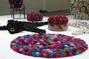 Pompon Rug Reciclagem No Meio Ambiente O Seu Portal De Artesanato