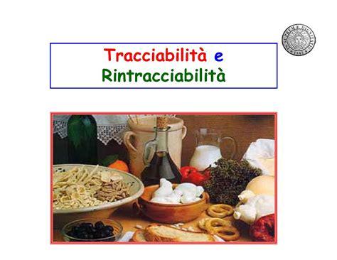 dispensa di tecnologie alimentari tracciabilit 224 e