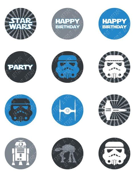 printable lego star wars cupcake toppers 8 best images of star wars printable cupcake toppers