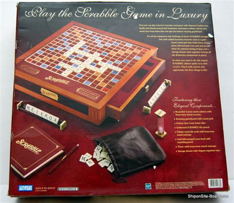 scrabble premier wood edition new scrabble deluxe premier wood edition w rotating