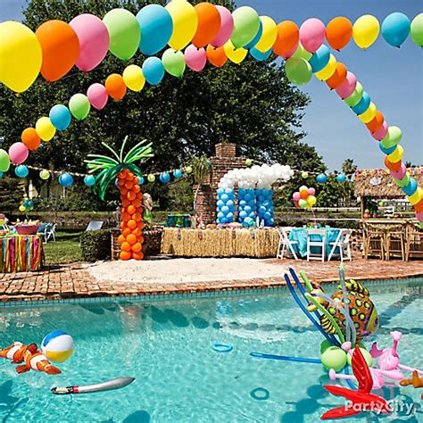 party themes for the summer diy balloon arches idea party city