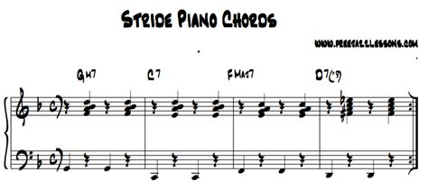 piano tutorial jazz chords stride piano lesson free video lesson tutorial and tips