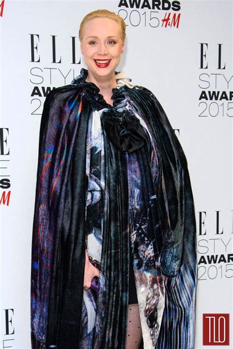 alice evans game of thrones gwendoline christie in giles at the 2015 elle style awards