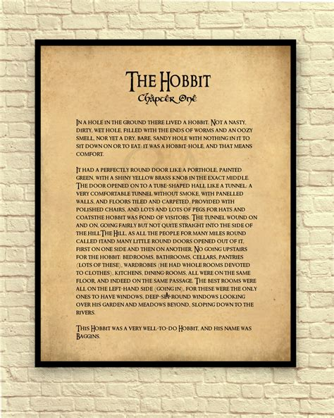 book print out the hobbit print the hobbit wall book page
