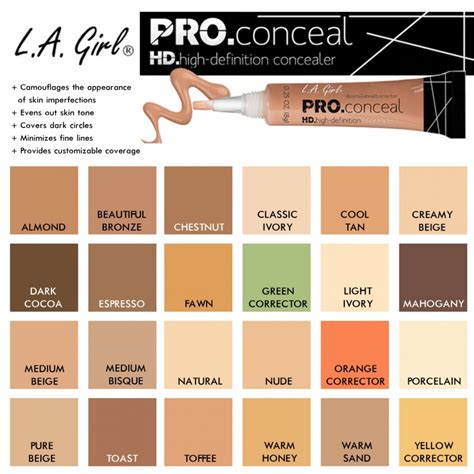 la colors makeup la la colors hd pro concealer in one