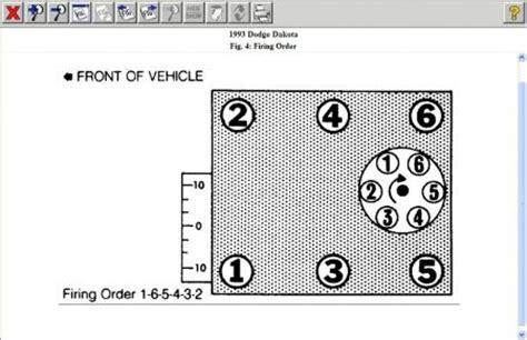 1993 dodge dakota problems 1993 dodge dakota firing order engine mechanical problem