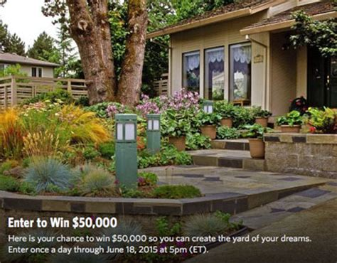 Hgtv 50 000 Landscape Sweepstakes - win 50 000 cash to build your dream back yard go sling