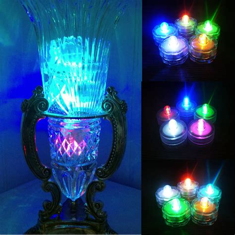 Lights In A Vase by 14pcs Battery Operated Submersible Led Tea Lights